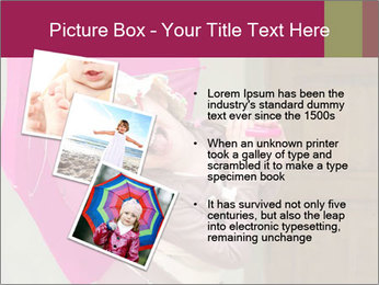 Girl With Pink Umbrella PowerPoint Template - Slide 17