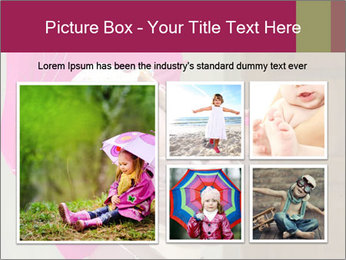 Girl With Pink Umbrella PowerPoint Template - Slide 19