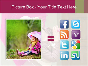 Girl With Pink Umbrella PowerPoint Templates - Slide 21