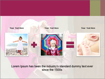 Girl With Pink Umbrella PowerPoint Template - Slide 22