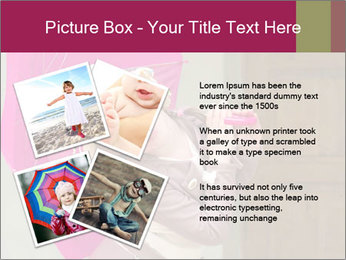 Girl With Pink Umbrella PowerPoint Template - Slide 23