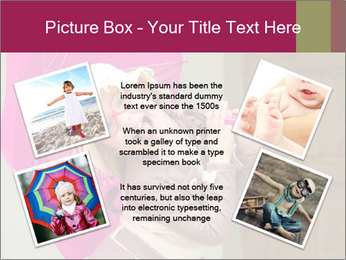 Girl With Pink Umbrella PowerPoint Template - Slide 24