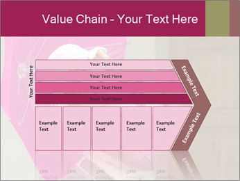 Girl With Pink Umbrella PowerPoint Template - Slide 27