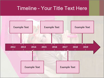 Girl With Pink Umbrella PowerPoint Template - Slide 28