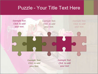Girl With Pink Umbrella PowerPoint Template - Slide 41
