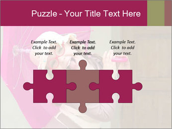 Girl With Pink Umbrella PowerPoint Template - Slide 42