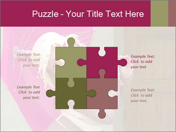 Girl With Pink Umbrella PowerPoint Template - Slide 43