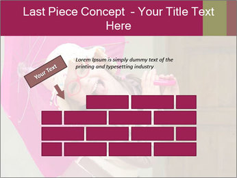 Girl With Pink Umbrella PowerPoint Template - Slide 46