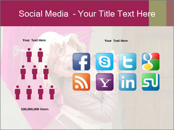 Girl With Pink Umbrella PowerPoint Template - Slide 5