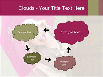 Girl With Pink Umbrella PowerPoint Templates - Slide 72