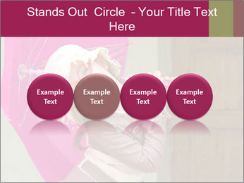Girl With Pink Umbrella PowerPoint Template - Slide 76