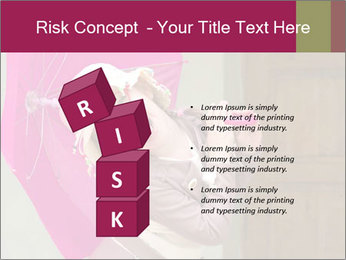 Girl With Pink Umbrella PowerPoint Templates - Slide 81