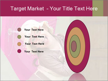 Girl With Pink Umbrella PowerPoint Template - Slide 84