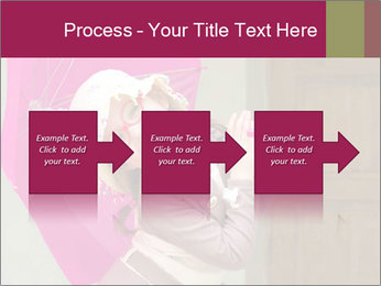 Girl With Pink Umbrella PowerPoint Template - Slide 88