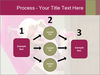 Girl With Pink Umbrella PowerPoint Template - Slide 92