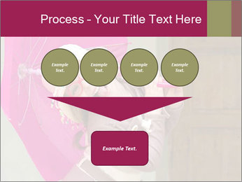 Girl With Pink Umbrella PowerPoint Templates - Slide 93