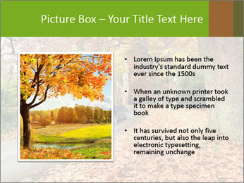 Car In Autumn Countryside PowerPoint Template - Slide 13