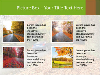 Car In Autumn Countryside PowerPoint Templates - Slide 14