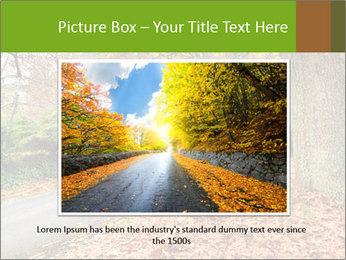 Car In Autumn Countryside PowerPoint Templates - Slide 15