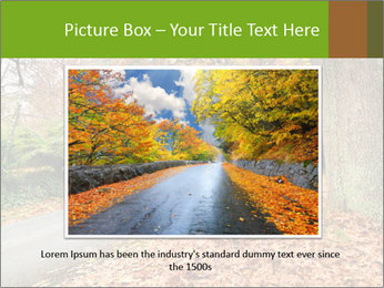 Car In Autumn Countryside PowerPoint Template - Slide 16