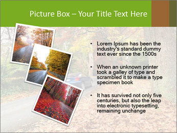 Car In Autumn Countryside PowerPoint Templates - Slide 17