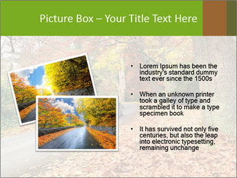 Car In Autumn Countryside PowerPoint Template - Slide 20