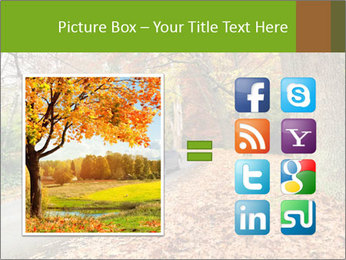 Car In Autumn Countryside PowerPoint Template - Slide 21