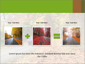 Car In Autumn Countryside PowerPoint Template - Slide 22