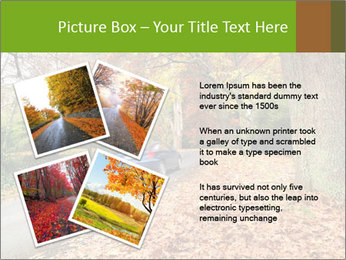 Car In Autumn Countryside PowerPoint Templates - Slide 23