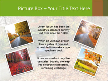 Car In Autumn Countryside PowerPoint Template - Slide 24