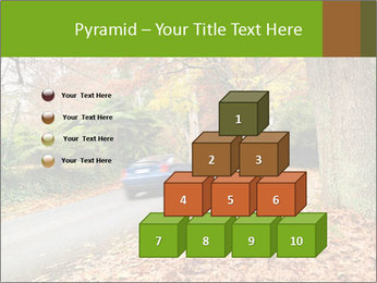 Car In Autumn Countryside PowerPoint Template - Slide 31