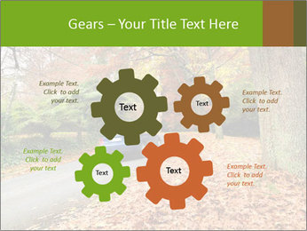 Car In Autumn Countryside PowerPoint Template - Slide 47