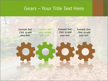 Car In Autumn Countryside PowerPoint Templates - Slide 48