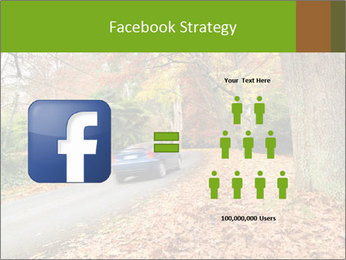 Car In Autumn Countryside PowerPoint Template - Slide 7