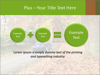 Car In Autumn Countryside PowerPoint Template - Slide 75