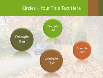 Car In Autumn Countryside PowerPoint Templates - Slide 77
