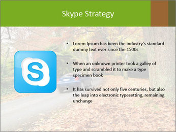 Car In Autumn Countryside PowerPoint Template - Slide 8
