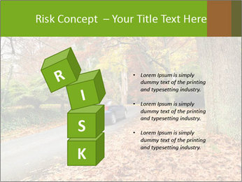 Car In Autumn Countryside PowerPoint Template - Slide 81