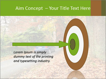 Car In Autumn Countryside PowerPoint Template - Slide 83