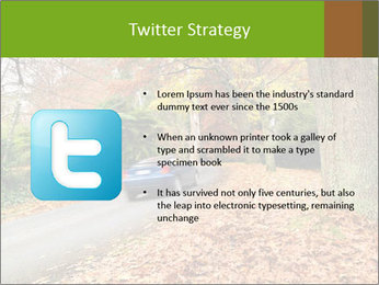 Car In Autumn Countryside PowerPoint Template - Slide 9