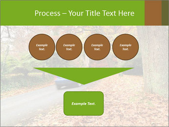 Car In Autumn Countryside PowerPoint Templates - Slide 93