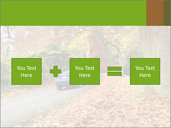 Car In Autumn Countryside PowerPoint Templates - Slide 95