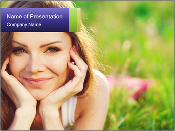 Blooming Woman PowerPoint Template