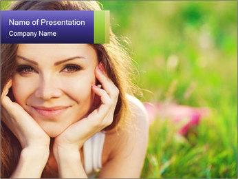 Blooming Woman PowerPoint Template - Slide 1