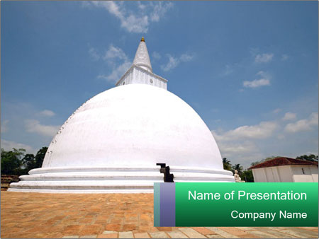 Sacred Buddhist Temple PowerPoint Templates