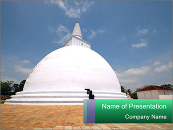 Sacred Buddhist Temple PowerPoint Templates - Slide 1