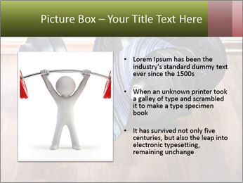 Two Barbells And Blue Tie PowerPoint Template - Slide 13
