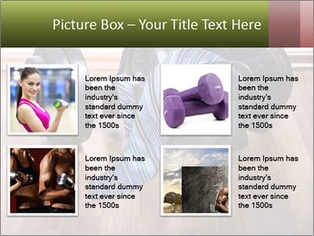 Two Barbells And Blue Tie PowerPoint Template - Slide 14
