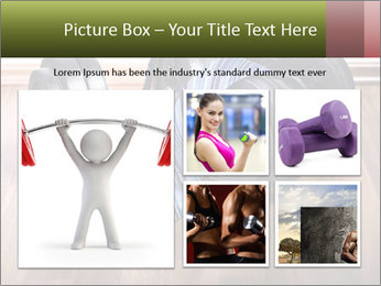 Two Barbells And Blue Tie PowerPoint Template - Slide 19