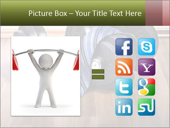 Two Barbells And Blue Tie PowerPoint Template - Slide 21